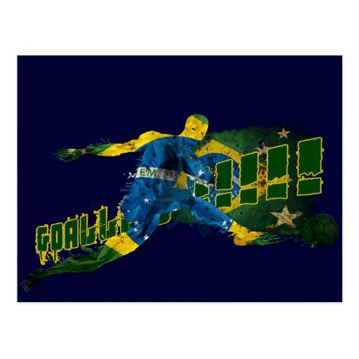 Brazil blood flesh and glory soccer futebol gifts postcard