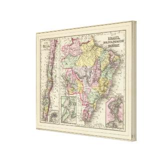 Brazil, Bolivia, Paraguay, Uruguay 2 Canvas Print