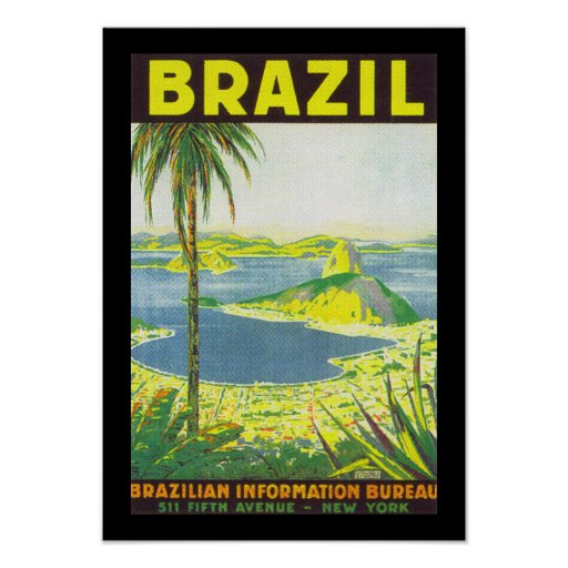 Brazil (border) print