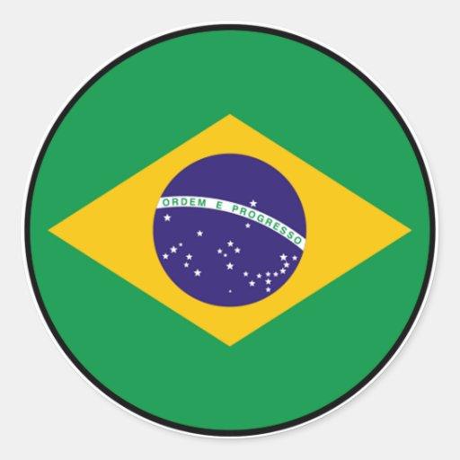 Brazil Brasil Euro Sticker