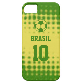 Brazil Brasil Football with Custom Text Number iPhone SE/5/5s Case