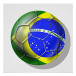 Brazil Brasil Samba football Brazilian flag sports Print