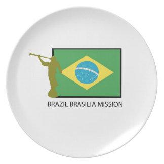 BRAZIL BRASILIA MISSION LDS PLATE