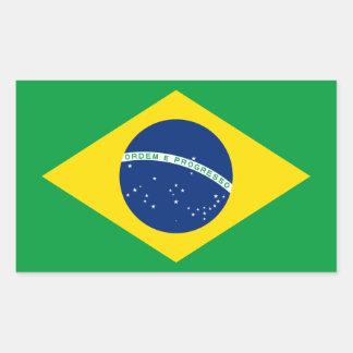 Brazil/Brazilian Flag Rectangular Sticker