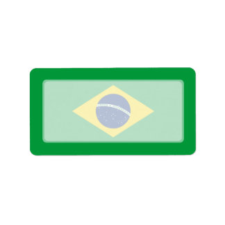 Brazil – Brazilian National Flag Label