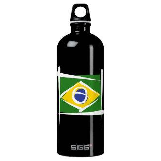 Brazil Brush Flag Aluminum Water Bottle
