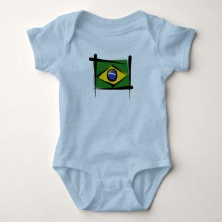 Brazil Brush Flag Baby Bodysuit