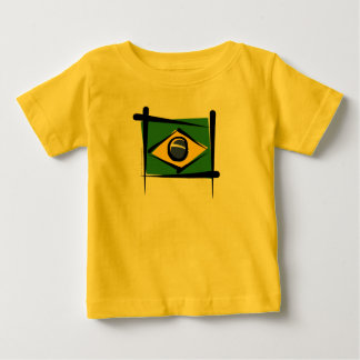 Brazil Brush Flag Baby T-Shirt