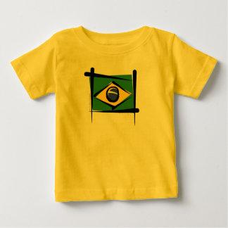 Brazil Brush Flag Baby T-Shirt