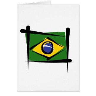 Brazil Brush Flag Cards