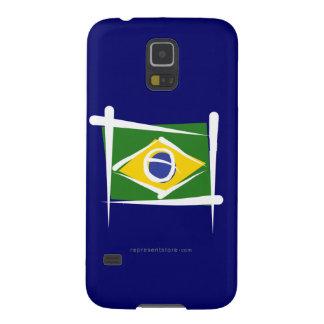 Brazil Brush Flag Case For Galaxy S5