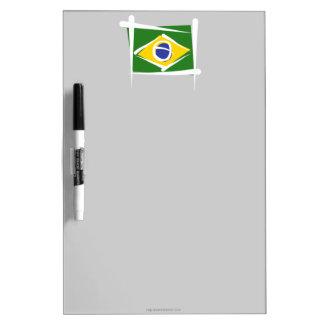 Brazil Brush Flag Dry Erase Whiteboards