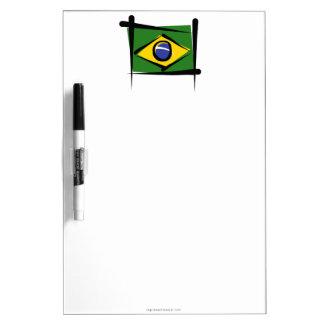 Brazil Brush Flag Dry-Erase Board