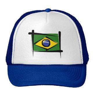 Brazil Brush Flag Hat