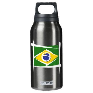 Brazil Brush Flag Insulated Water Bottle