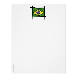 Brazil Brush Flag Personalized Letterhead