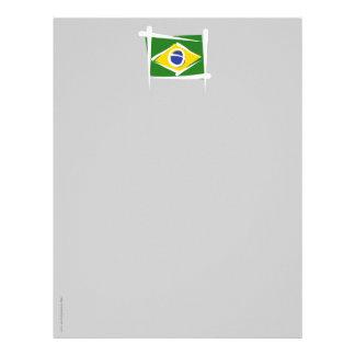 Brazil Brush Flag Customized Letterhead