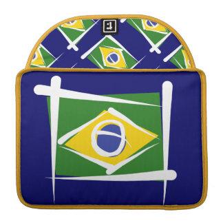 Brazil Brush Flag Sleeves For MacBook Pro