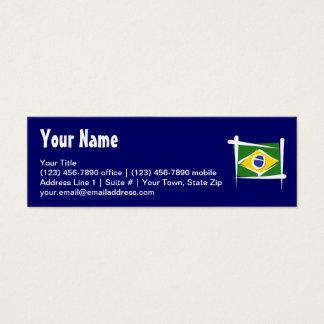 Brazil Brush Flag Mini Business Card