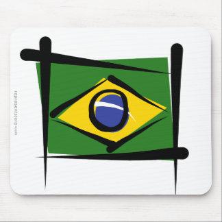 Brazil Brush Flag Mouse Pad