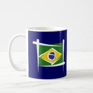 Brazil Brush Flag Coffee Mug