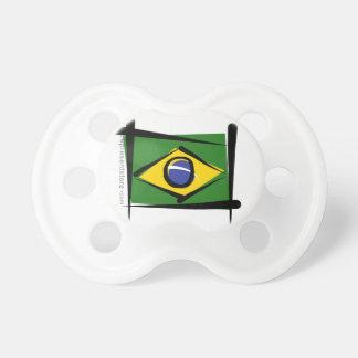 Brazil Brush Flag Baby Pacifier