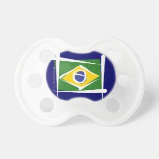 Brazil Brush Flag Pacifier