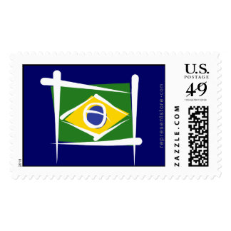 Brazil Brush Flag Stamp