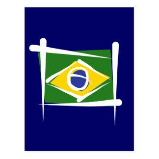 Brazil Brush Flag Postcards