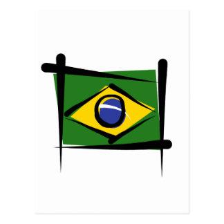 Brazil Brush Flag Post Card