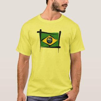 Brazil Brush Flag T-Shirt