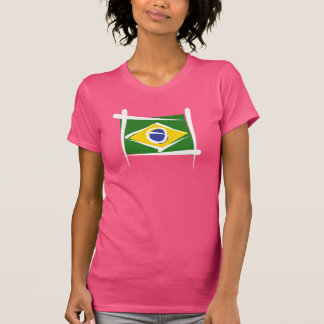 Brazil Brush Flag T-Shirt