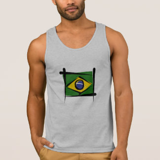 Brazil Brush Flag Tank Top
