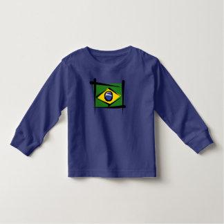 Brazil Brush Flag Toddler T-shirt