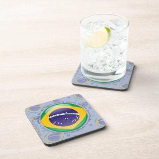 Brazil Bubble Flag Coasters