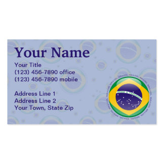 Brazil Bubble Flag Double-Sided Standard Business Cards (Pack Of 100)