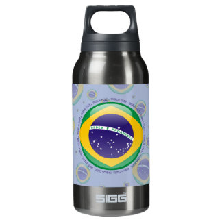 Brazil Bubble Flag Insulated Water Bottle