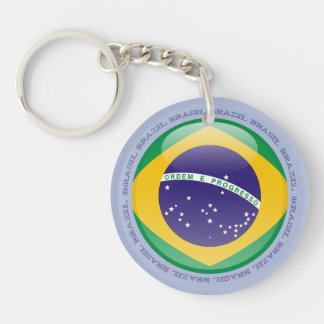 Brazil Bubble Flag Keychain