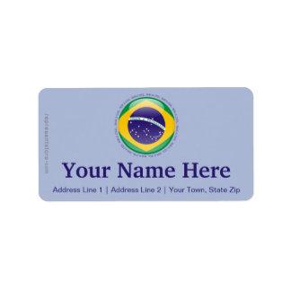 Brazil Bubble Flag Label