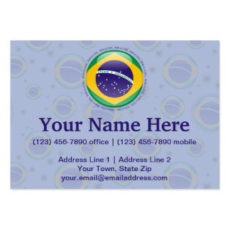 Brazil Bubble Flag Large Business Cards (Pack Of 100)