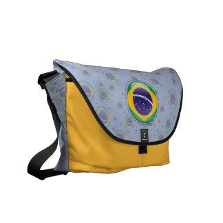 Brazil Bubble Flag Courier Bags