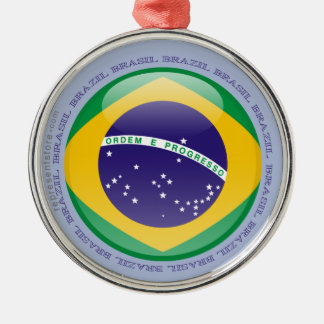 Brazil Bubble Flag Metal Ornament