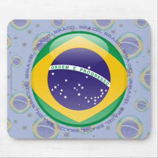 Brazil Bubble Flag Mouse Pad