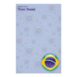Brazil Bubble Flag Stationery
