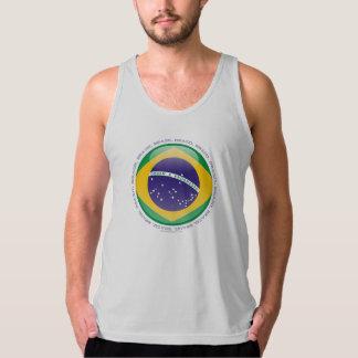 Brazil Bubble Flag Tank Top