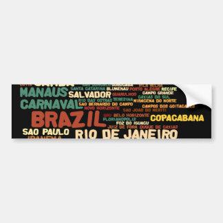 BRAZIL Bumper Sticker Car Bumper Sticker