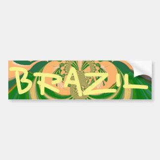 Brazil Bumper Sticker Template Car Bumper Sticker
