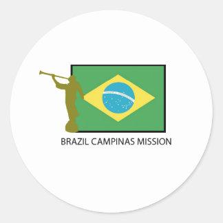 BRAZIL CAMPINAS MISSION LDS CLASSIC ROUND STICKER