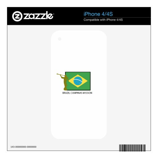 BRAZIL CAMPINAS MISSION LDS iPhone 4 SKIN