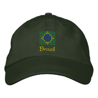 Brazil Cap - Brazilian Flag Hat Embroidered Hats
